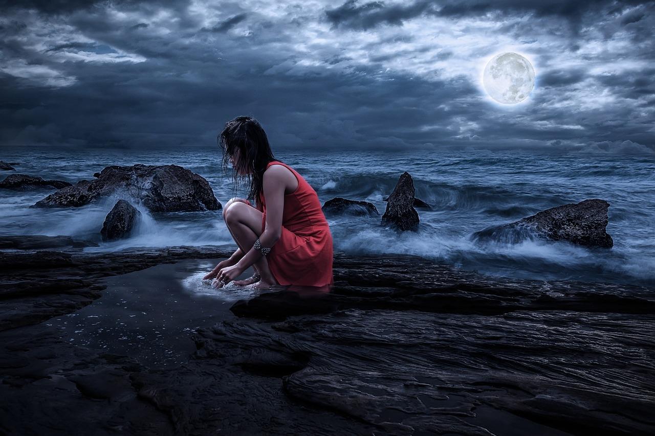 Foto Divertenti Bambini Al Mare luna e il mare, fiabe online, favole, racconti